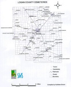 Logan Cemeteries map