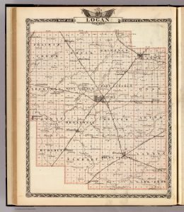 Logan Map 1876 from Rumsey
